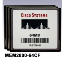 Cisco 2800 Series Flash Memory Options - MEM2800-64CF=